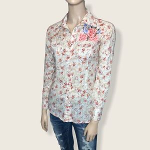 Ariat XS Embroidered Floral Paisley Western Shirt